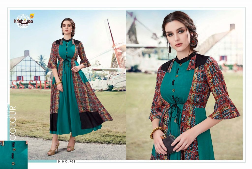 - IMG 20181011 WA0259 1024x686 - Krishriya taesel two toned silk kurti catalogue from surat wholesaler