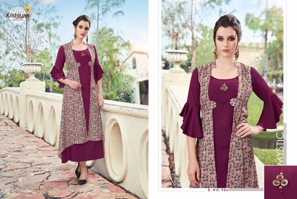 - IMG 20181011 WA0260 1024x686 - Krishriya taesel two toned silk kurti catalogue from surat wholesaler