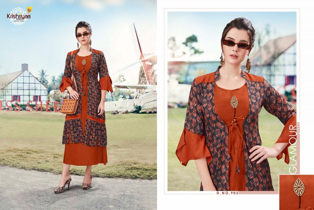- IMG 20181011 WA0261 1024x686 - Krishriya taesel two toned silk kurti catalogue from surat wholesaler