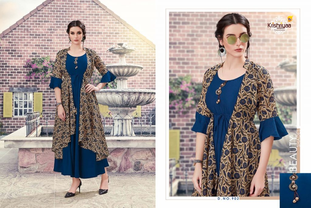 - IMG 20181011 WA0262 1024x686 - Krishriya taesel two toned silk kurti catalogue from surat wholesaler