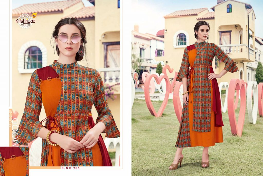 - IMG 20181011 WA0263 1024x686 - Krishriya taesel two toned silk kurti catalogue from surat wholesaler
