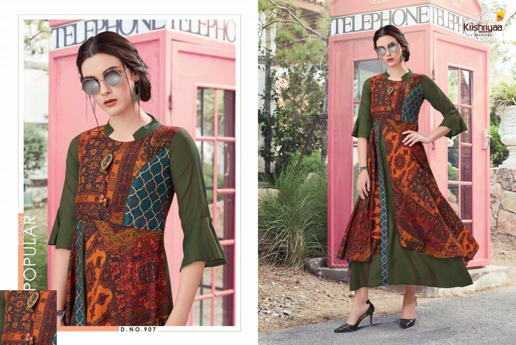- IMG 20181011 WA0265 1024x686 - Krishriya taesel two toned silk kurti catalogue from surat wholesaler