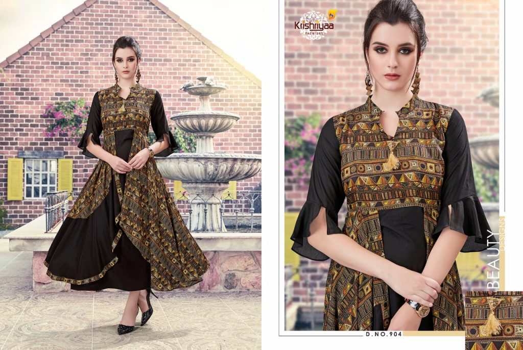 - IMG 20181011 WA0266 1024x686 - Krishriya taesel two toned silk kurti catalogue from surat wholesaler