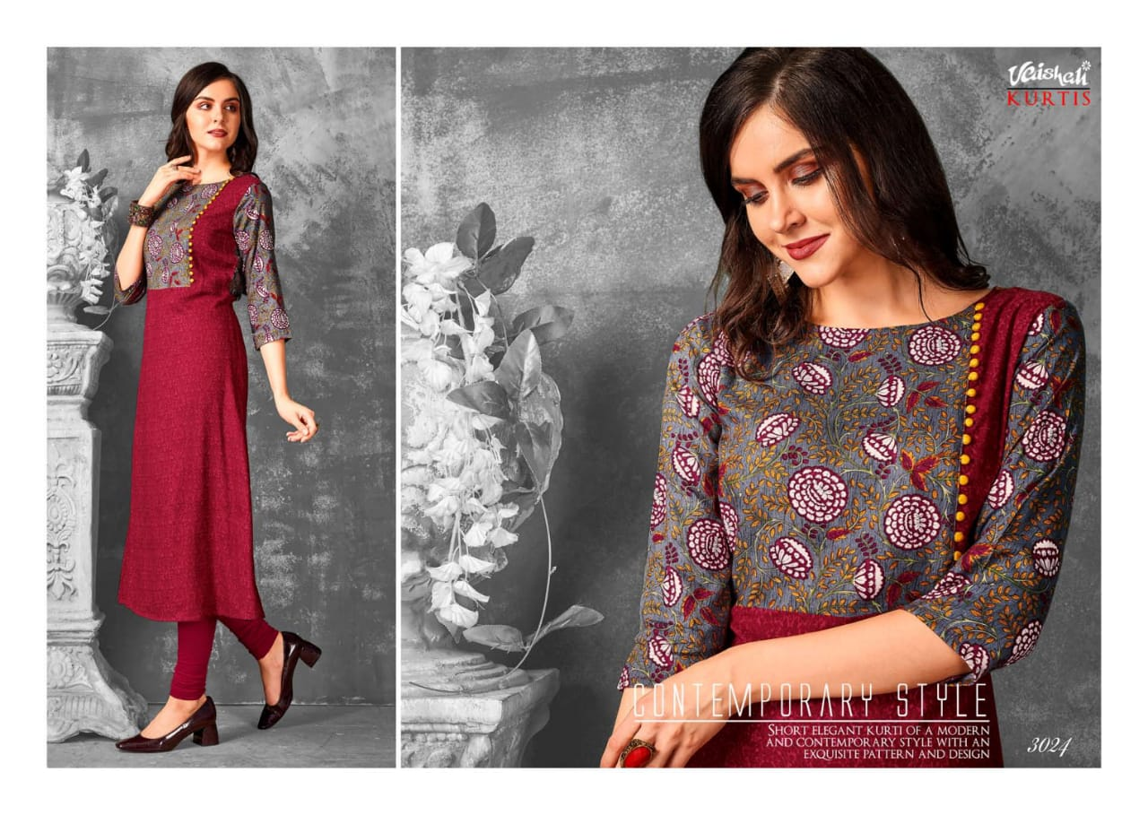 Vaishali fashion bold and stylish vol 2 designer Printed rayon kurtis supplier surat