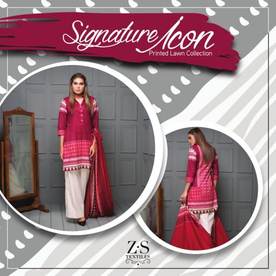 a0f492215a ZS textiles signature Icon printed lawn collection original pakistani  salwaar suit Catalogue from surat wholesaler