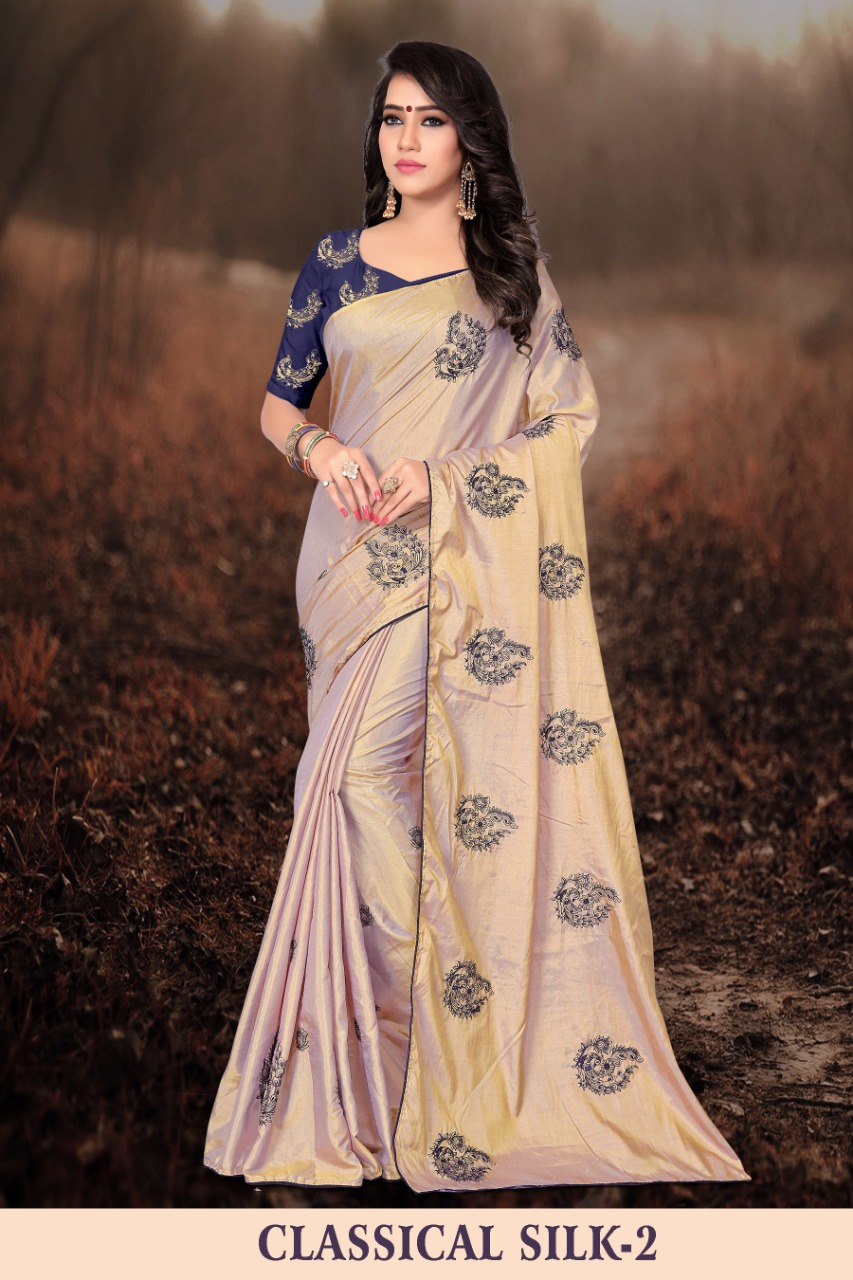 Right one classical vol 2 fancy silk saree catalogue from surat wholesaler at best rate