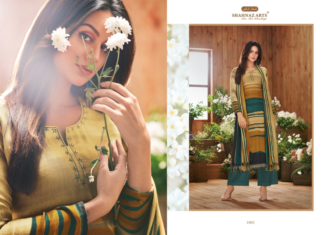 Shahnaz arts inspire pashmina winter collection salwaar suit Catalogue from surat best price