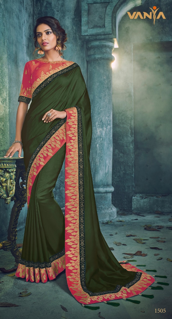 Vanya designer vol 6 party wear silk saree catalogue from surat best dealer
