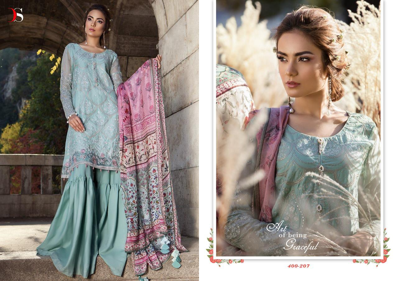 Deepsy maria b embroidered pakistani party wear heavy work salwaar suit Catalogue from surat wholesale best price