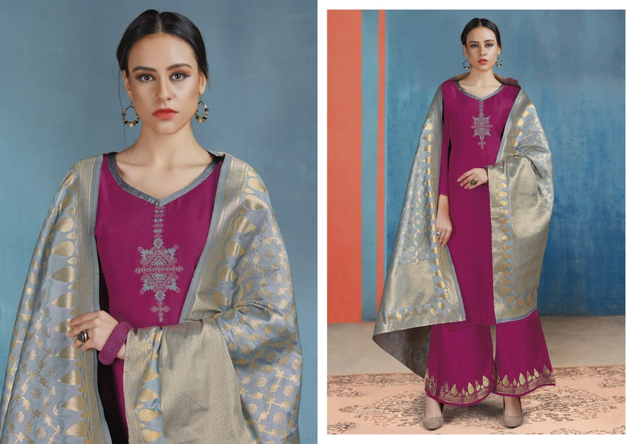 Shivam fashion Ruhaab vol 55 pashmina suit catalogue collection in wholesale price