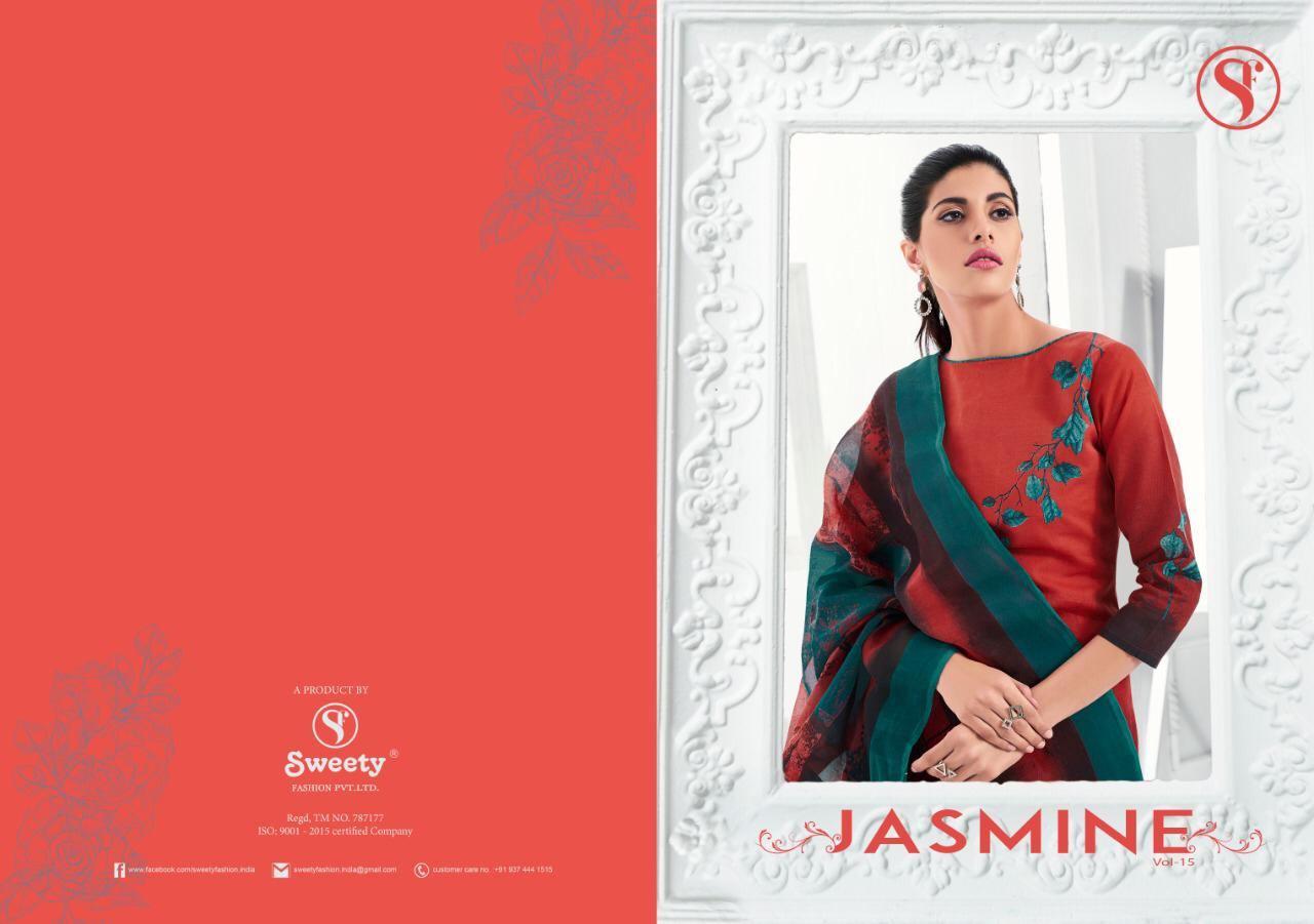 S more jasmine vol 15 printed cotton dress material catalog in wholesale price