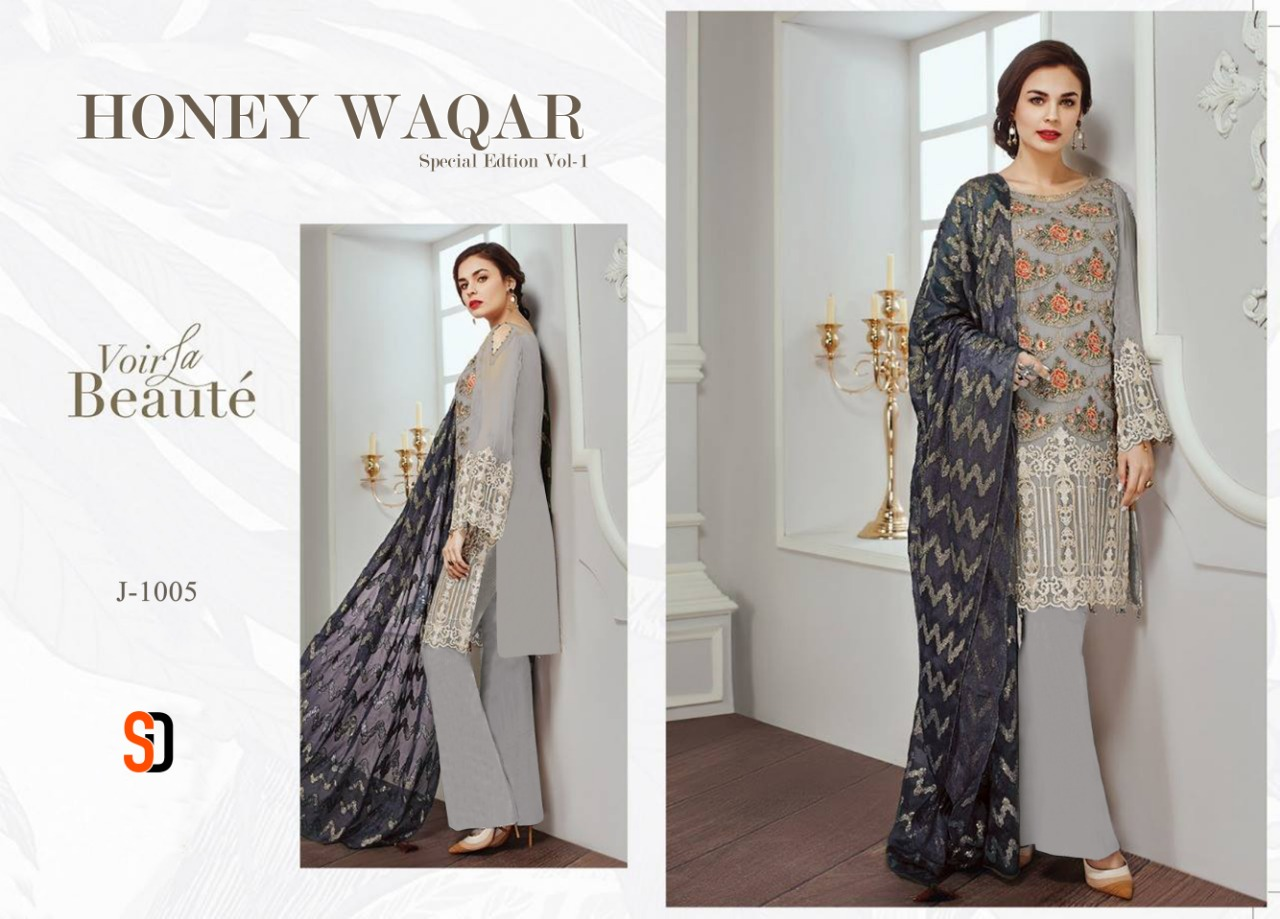 Shraddha designer honey waqar special edition vol 1 Embroidery pakistani salwaar suit Catalogue wholesale price from best supplier surat