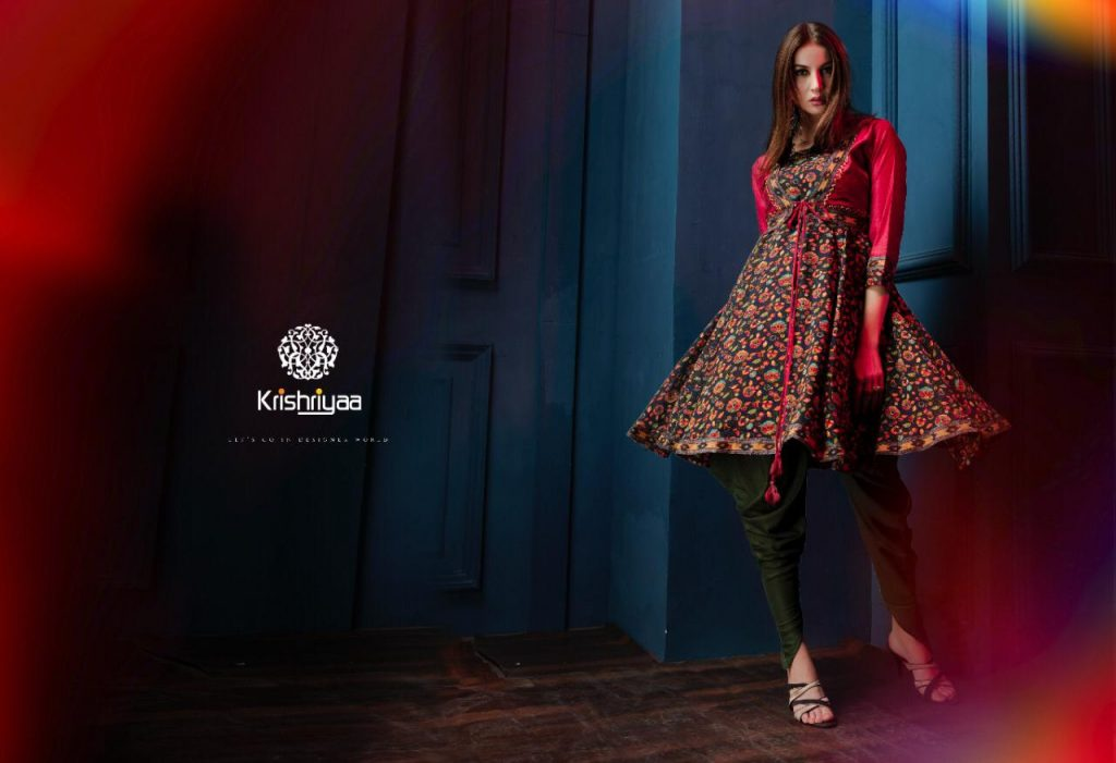 - IMG 20181128 WA0264 1024x701 - Krishriyaa majestic designer Fancy silk kurtis catalogue Wholesale supplier surat
