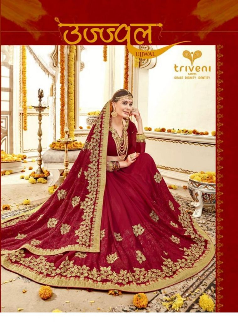 - IMG 20181207 WA0238 758x1024 - Triveni sarees ujjval designer red Bridal Saree catalogue in wholesale price surat  - IMG 20181207 WA0238 758x1024 - Triveni sarees ujjval designer red Bridal Saree catalogue in wholesale price surat