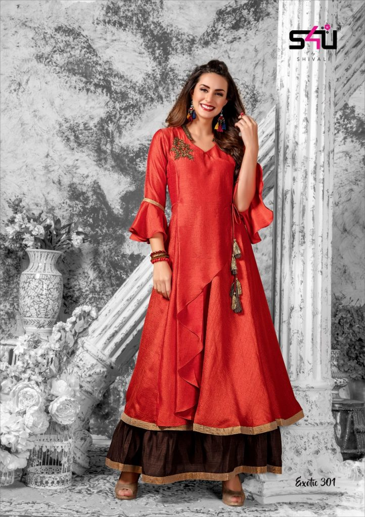 - IMG 20181227 WA0188 722x1024 - S4U Exotic vol 3 designer partywear fancy kurtis catalogue supplier Surat best rate  - IMG 20181227 WA0188 722x1024 - S4U Exotic vol 3 designer partywear fancy kurtis catalogue supplier Surat best rate