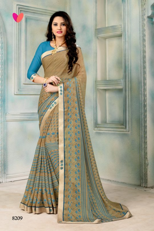cfc91f35702 Varsiddhi designer mintorsi 8201-8210 chiffon printed saree catalogue  wholesaler dealer