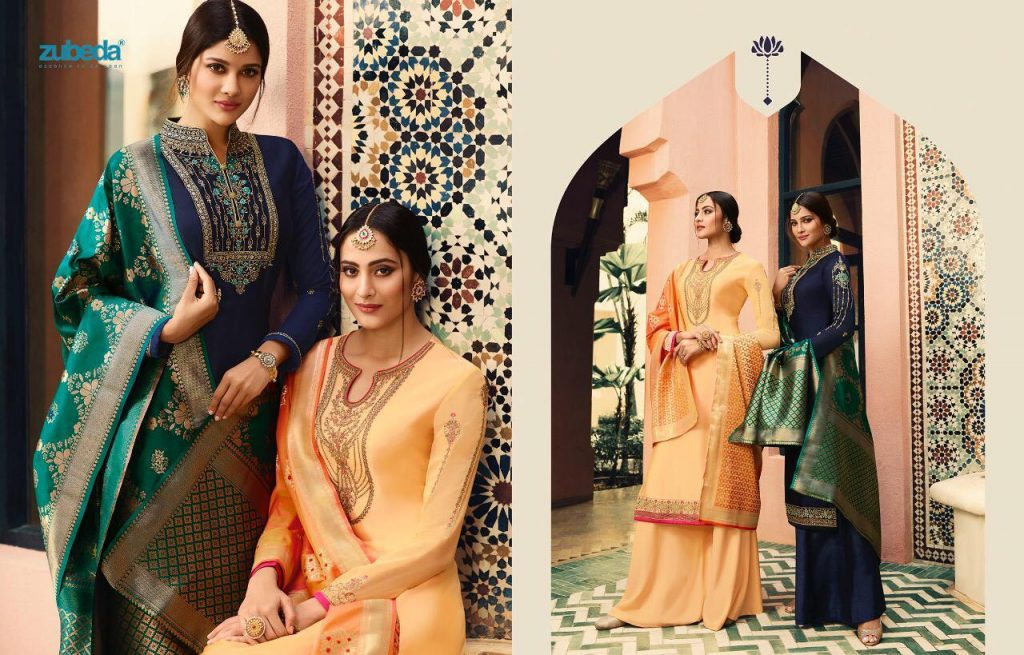 - IMG 20190104 WA0234 1024x655 - Zubeda nyra banarasi vol 2 heavy embroidered sharara style salwaar suit catalogue roshani dealer surat  - IMG 20190104 WA0234 1024x655 - Zubeda nyra banarasi vol 2 heavy embroidered sharara style salwaar suit catalogue roshani dealer surat