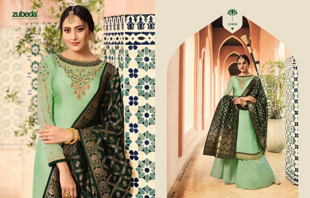 - IMG 20190104 WA0237 1024x655 - Zubeda nyra banarasi vol 2 heavy embroidered sharara style salwaar suit catalogue roshani dealer surat  - IMG 20190104 WA0237 1024x655 - Zubeda nyra banarasi vol 2 heavy embroidered sharara style salwaar suit catalogue roshani dealer surat