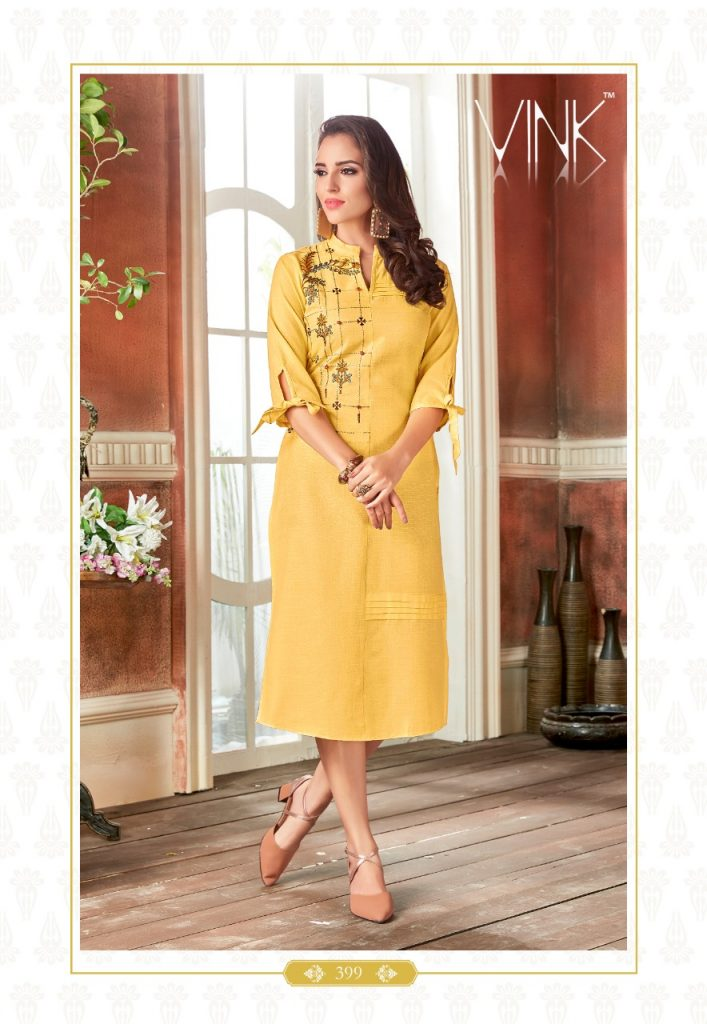 - IMG 20190220 WA0059 2 707x1024 - Rio By Vink Fancy Embroidery Linen Cotton Kurti Catalogue Dealer Best Price Surat
