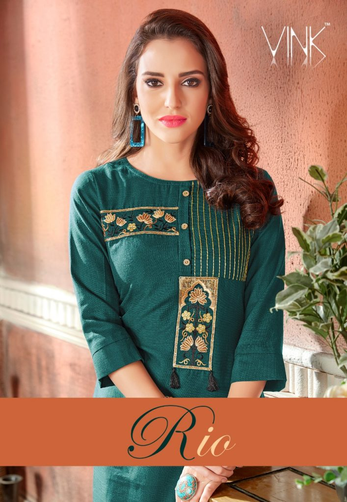 - IMG 20190220 WA0061 4 707x1024 - Rio By Vink Fancy Embroidery Linen Cotton Kurti Catalogue Dealer Best Price Surat
