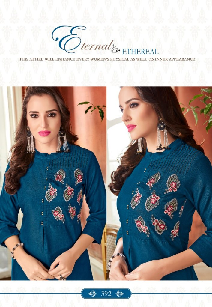 - IMG 20190220 WA0063 2 707x1024 - Rio By Vink Fancy Embroidery Linen Cotton Kurti Catalogue Dealer Best Price Surat