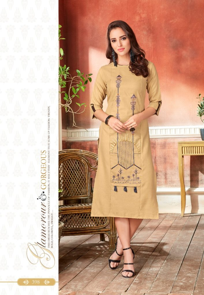 - IMG 20190220 WA0064 2 707x1024 - Rio By Vink Fancy Embroidery Linen Cotton Kurti Catalogue Dealer Best Price Surat
