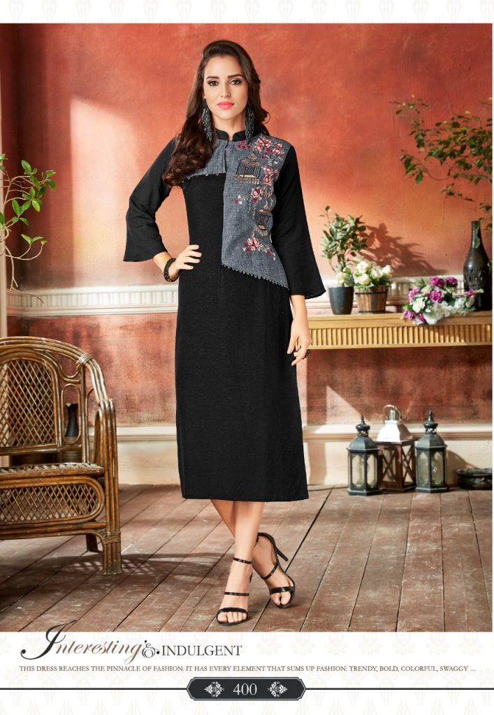 - IMG 20190220 WA0071 3 707x1024 - Rio By Vink Fancy Embroidery Linen Cotton Kurti Catalogue Dealer Best Price Surat