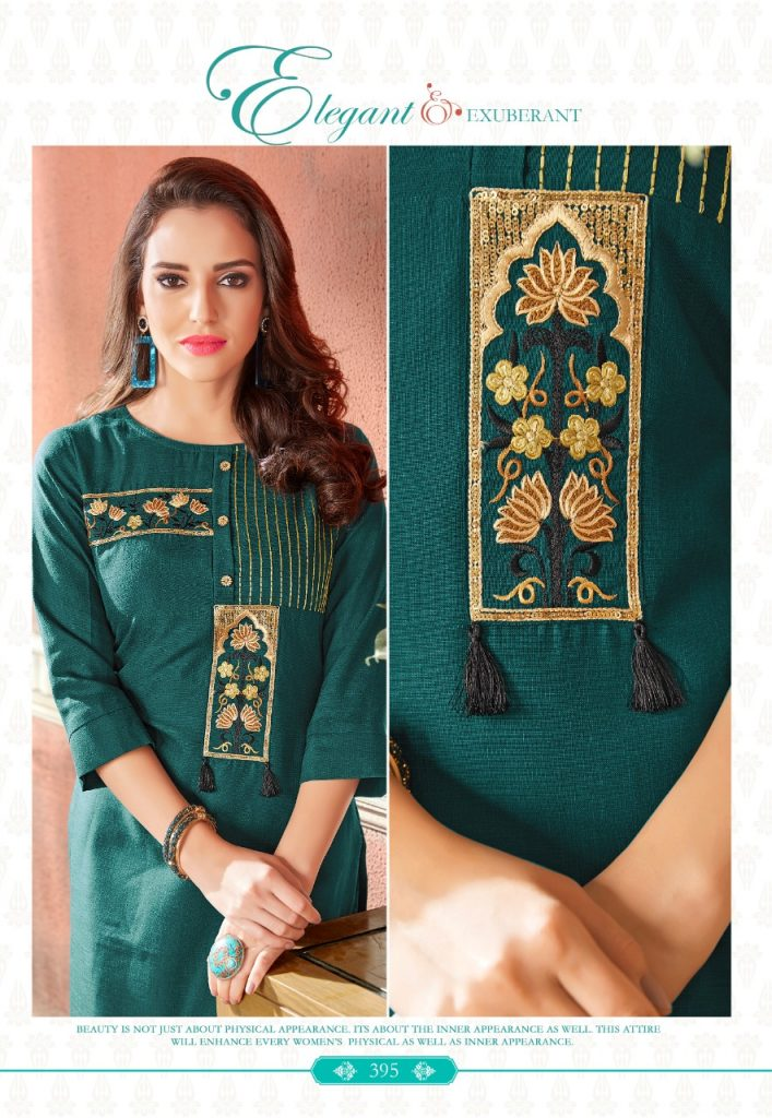- IMG 20190220 WA0074 2 707x1024 - Rio By Vink Fancy Embroidery Linen Cotton Kurti Catalogue Dealer Best Price Surat
