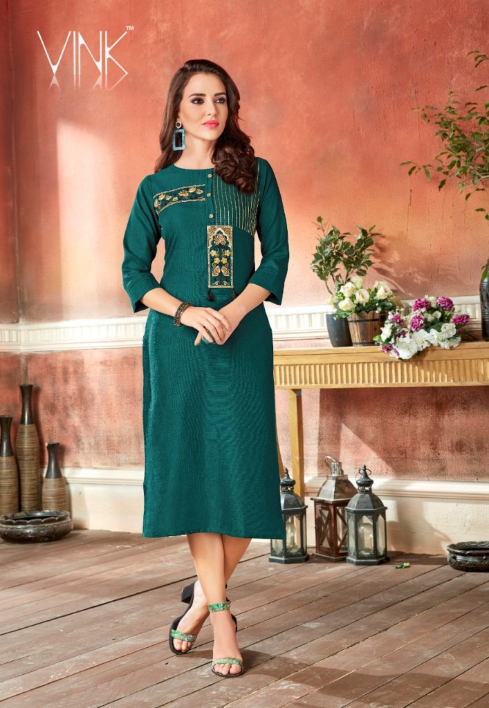 - IMG 20190220 WA0075 2 707x1024 - Rio By Vink Fancy Embroidery Linen Cotton Kurti Catalogue Dealer Best Price Surat