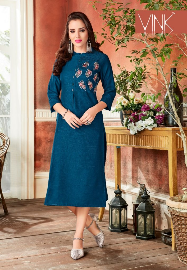 - IMG 20190220 WA0077 2 707x1024 - Rio By Vink Fancy Embroidery Linen Cotton Kurti Catalogue Dealer Best Price Surat