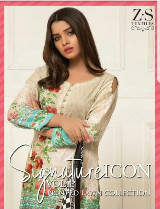 73ca543b4b ZS textile Signature Icon Lawn Vol 1 Printed original Pakistani Suit  catalog wholesale price surat