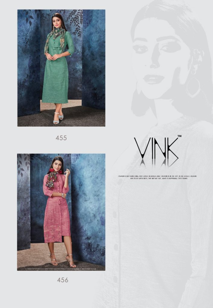 - IMG 20190306 WA0554 707x1024 - Vink by Vista Lifestyle shades vol 2 Designer kurtis with stole catalog wholesale price surat