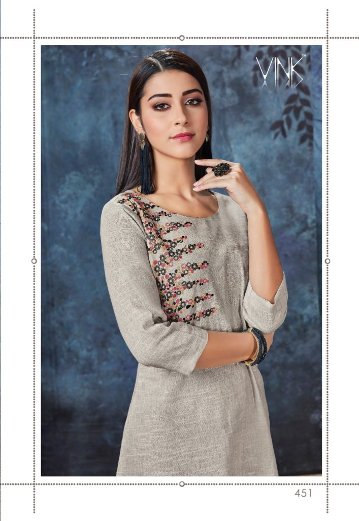 - IMG 20190306 WA0555 707x1024 - Vink by Vista Lifestyle shades vol 2 Designer kurtis with stole catalog wholesale price surat