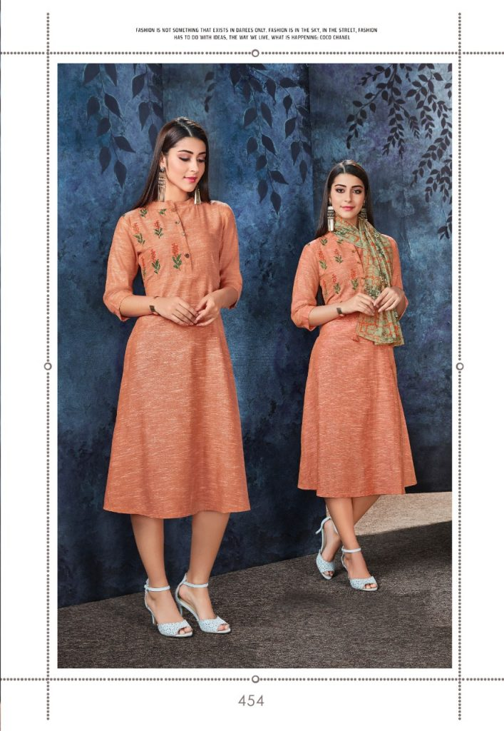 - IMG 20190306 WA0559 707x1024 - Vink by Vista Lifestyle shades vol 2 Designer kurtis with stole catalog wholesale price surat