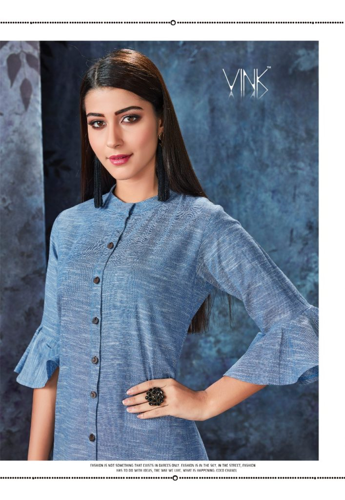 - IMG 20190306 WA0560 707x1024 - Vink by Vista Lifestyle shades vol 2 Designer kurtis with stole catalog wholesale price surat