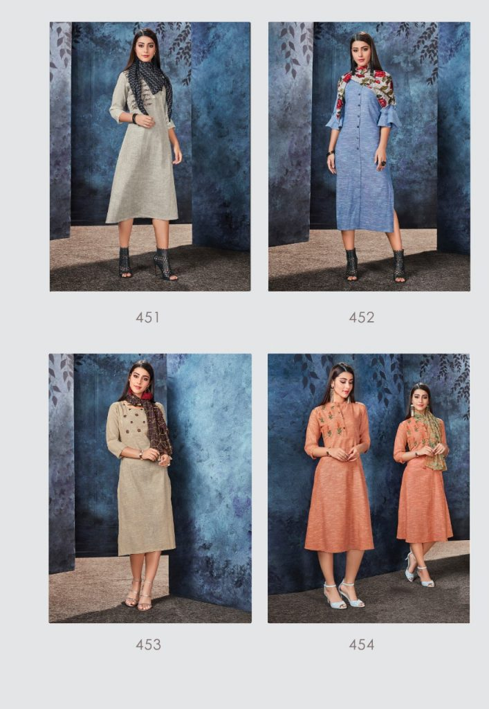 - IMG 20190306 WA0561 707x1024 - Vink by Vista Lifestyle shades vol 2 Designer kurtis with stole catalog wholesale price surat
