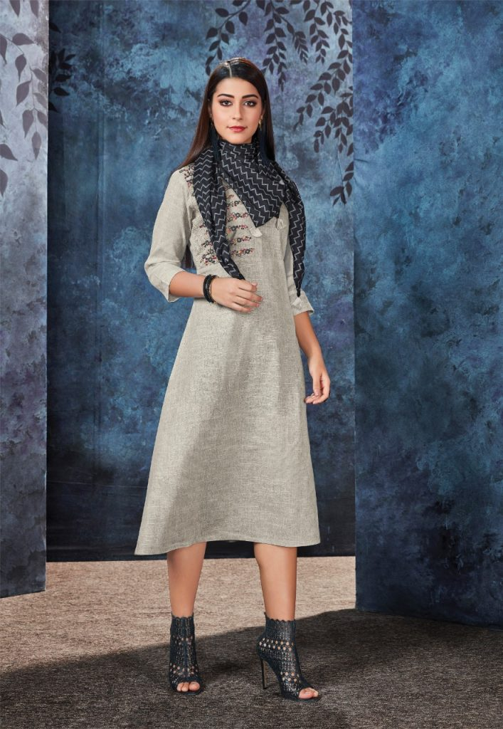 - IMG 20190306 WA0563 707x1024 - Vink by Vista Lifestyle shades vol 2 Designer kurtis with stole catalog wholesale price surat
