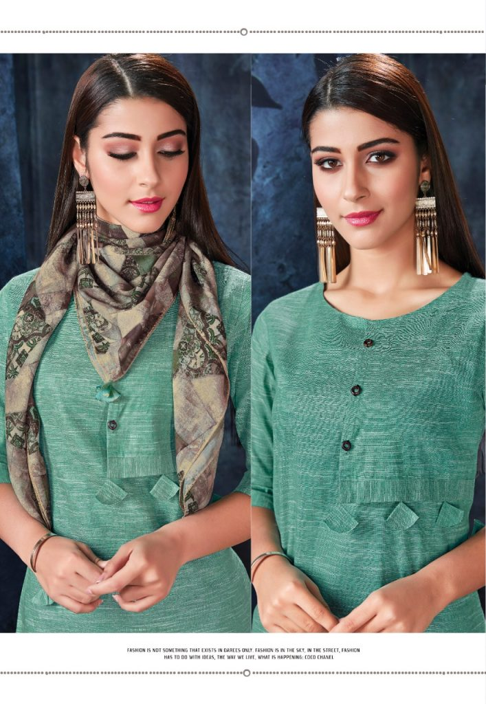 - IMG 20190306 WA0564 707x1024 - Vink by Vista Lifestyle shades vol 2 Designer kurtis with stole catalog wholesale price surat