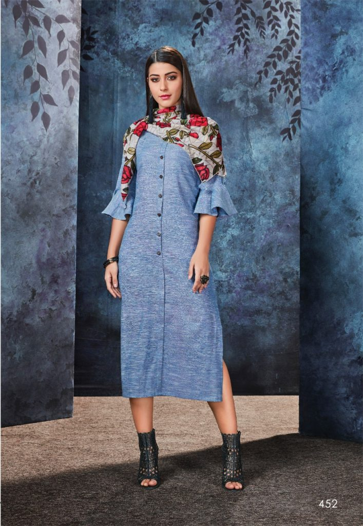 - IMG 20190306 WA0565 707x1024 - Vink by Vista Lifestyle shades vol 2 Designer kurtis with stole catalog wholesale price surat
