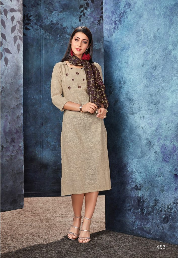 - IMG 20190306 WA0566 707x1024 - Vink by Vista Lifestyle shades vol 2 Designer kurtis with stole catalog wholesale price surat