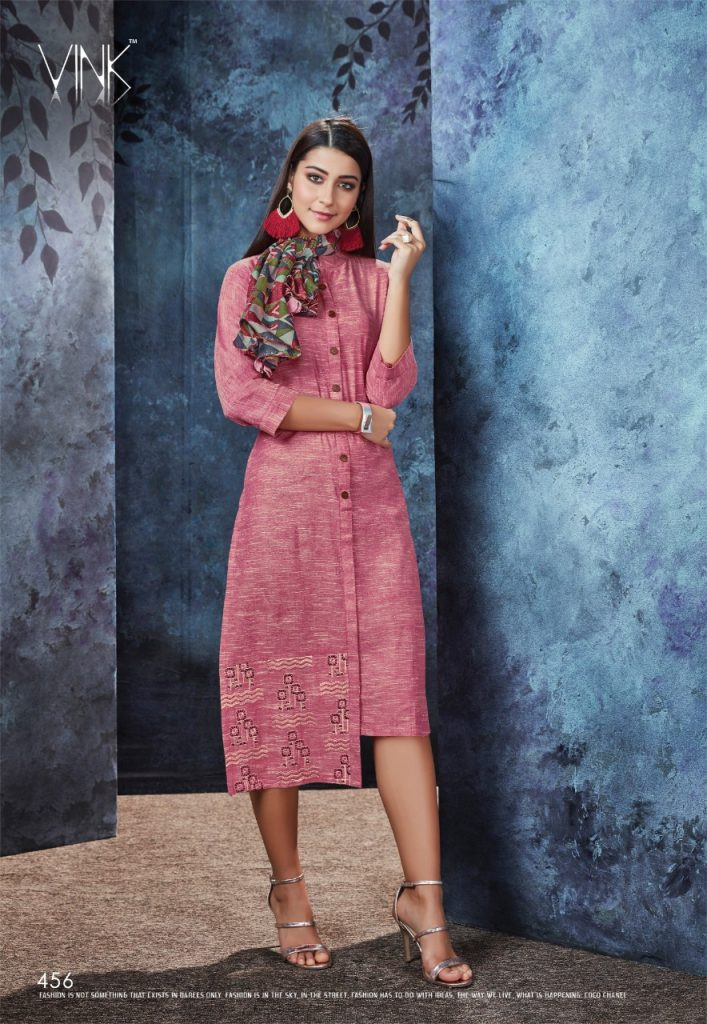 - IMG 20190306 WA0568 707x1024 - Vink by Vista Lifestyle shades vol 2 Designer kurtis with stole catalog wholesale price surat