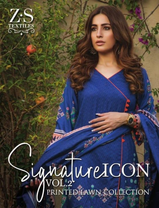 f542c1fe35 Zs textiles signature icon vol 2 original pakistani lawn catalogue surat  dealer