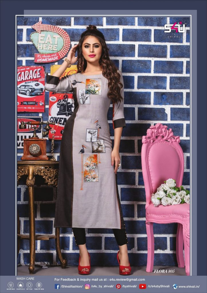 - IMG 20190322 WA0017 722x1024 - S4U by Shivalik Flora vol 8 designer party wear straight kurtis collection at best price  - IMG 20190322 WA0017 722x1024 - S4U by Shivalik Flora vol 8 designer party wear straight kurtis collection at best price