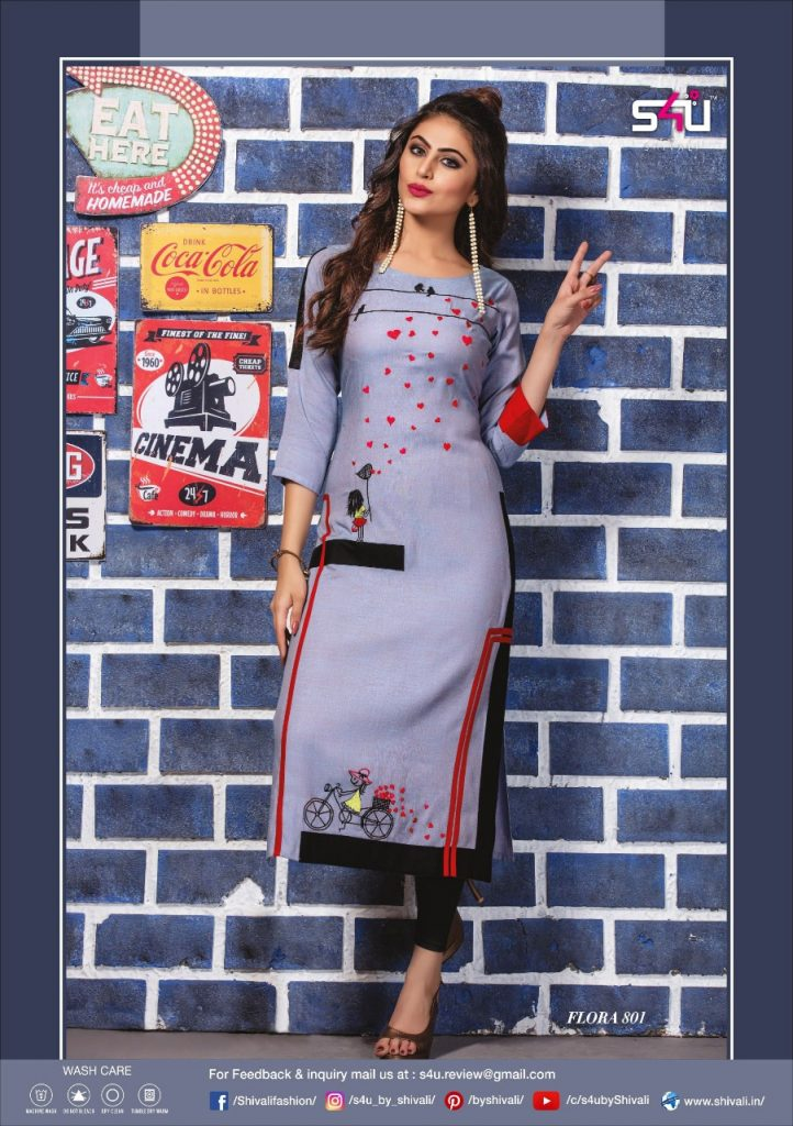 - IMG 20190322 WA0019 722x1024 - S4U by Shivalik Flora vol 8 designer party wear straight kurtis collection at best price  - IMG 20190322 WA0019 722x1024 - S4U by Shivalik Flora vol 8 designer party wear straight kurtis collection at best price