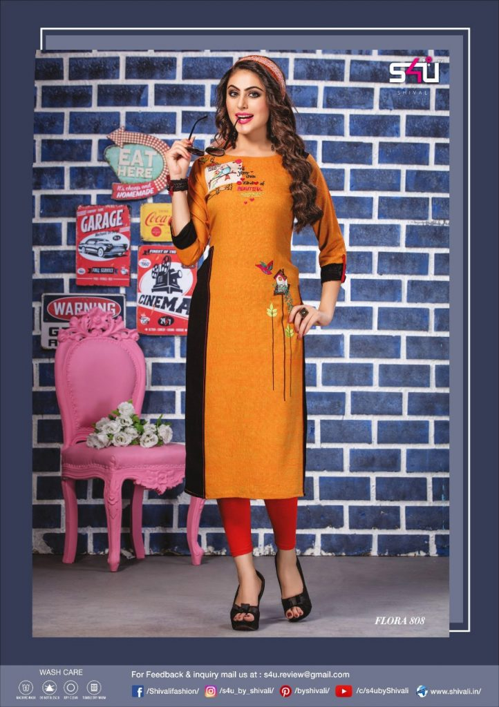- IMG 20190322 WA0020 722x1024 - S4U by Shivalik Flora vol 8 designer party wear straight kurtis collection at best price  - IMG 20190322 WA0020 722x1024 - S4U by Shivalik Flora vol 8 designer party wear straight kurtis collection at best price