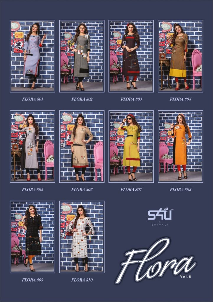 - IMG 20190322 WA0021 722x1024 - S4U by Shivalik Flora vol 8 designer party wear straight kurtis collection at best price  - IMG 20190322 WA0021 722x1024 - S4U by Shivalik Flora vol 8 designer party wear straight kurtis collection at best price
