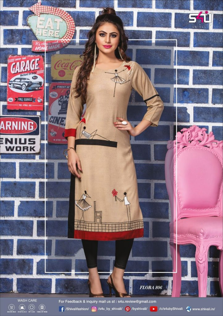 - IMG 20190322 WA0027 722x1024 - S4U by Shivalik Flora vol 8 designer party wear straight kurtis collection at best price  - IMG 20190322 WA0027 722x1024 - S4U by Shivalik Flora vol 8 designer party wear straight kurtis collection at best price