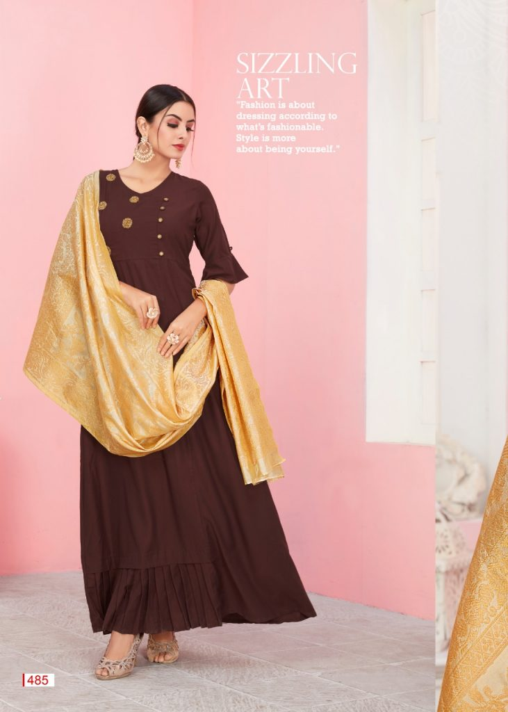 KSM Dhanyawad Banarasi Kudi Vol 2 Designer Long Kurti with dupatta catalog wholesale price Surat best rate - IMG 20190423 WA0355 731x1024 - KSM Dhanyawad Banarasi Kudi Vol 2 Designer Long Kurti with dupatta catalog wholesale price Surat best rate KSM Dhanyawad Banarasi Kudi Vol 2 Designer Long Kurti with dupatta catalog wholesale price Surat best rate - IMG 20190423 WA0355 731x1024 - KSM Dhanyawad Banarasi Kudi Vol 2 Designer Long Kurti with dupatta catalog wholesale price Surat best rate