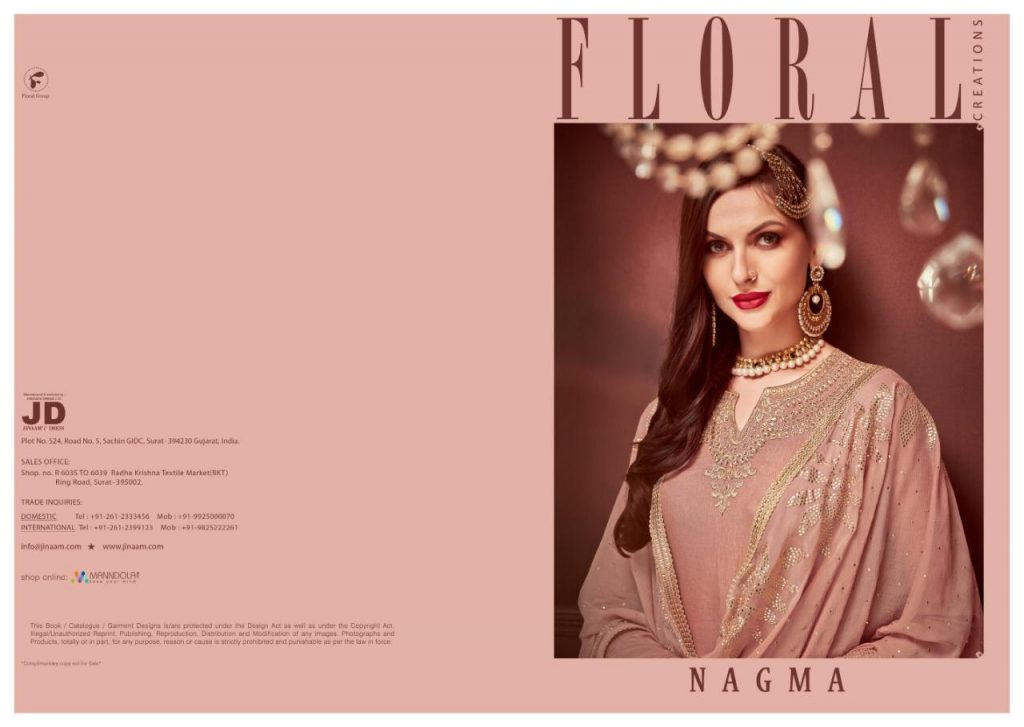 jinaam dresses floral nagma collection designer sharara suit catalog wholesale surat - IMG 20190506 WA0101 1 1024x727 - Jinaam dresses floral Nagma Collection Designer Sharara Suit Catalog wholesale surat