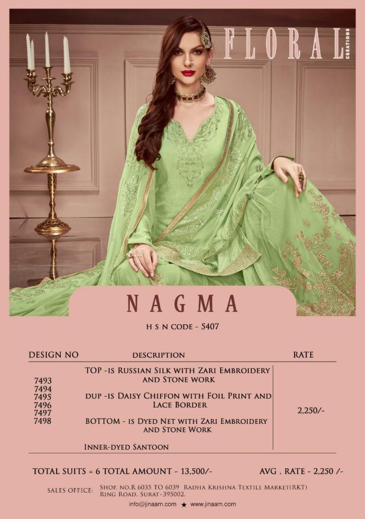 jinaam dresses floral nagma collection designer sharara suit catalog wholesale surat - IMG 20190506 WA0108 1 720x1024 - Jinaam dresses floral Nagma Collection Designer Sharara Suit Catalog wholesale surat